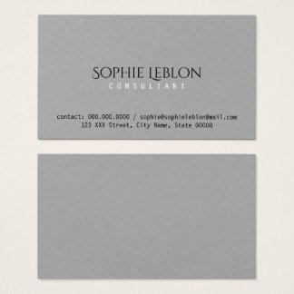 minimalist elegant gray premium business card