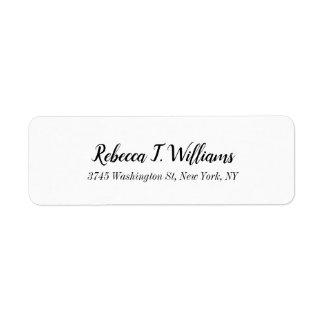 Minimalist Elegant Handwriting Modern Plain Return Address Label