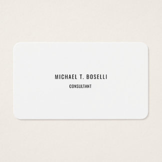 Minimalist Elegant Modern Professional Simple Business Card
