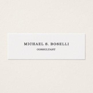 Minimalist Elegant Plain Professional Simple Mini Business Card