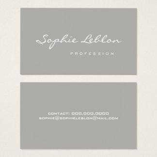 minimalist elegant & simple plain gray business card