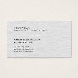 Minimalist Elegant Texture White Attorney Business Card