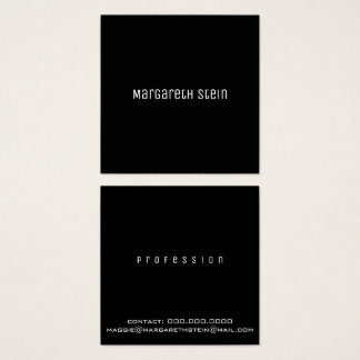 minimalist elegant unica one font style black square business card