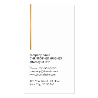 Minimalist Elegant White Faux Gold Line Attorney Pack Of Standard Business Cards