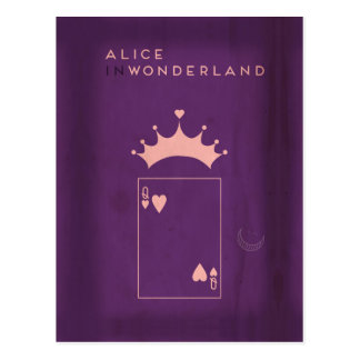 Minimalist Fairy Tales | Alice in Wonderland Postcard