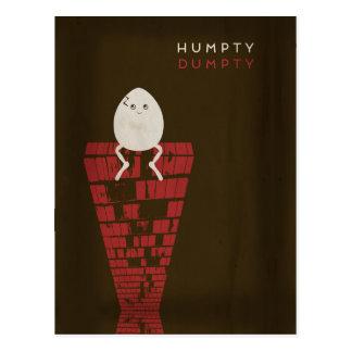 Minimalist Fairy Tales | Humpty Dumpty Postcard
