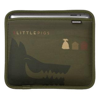 Minimalist Fairy Tales | The 3 Little Pigs iPad Sleeve