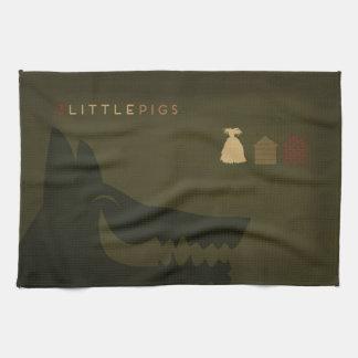 Minimalist Fairy Tales | The 3 Little Pigs Tea Towel