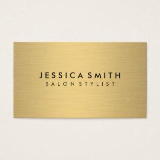 Minimalist Faux Metallic Gold Brushed Business Card