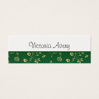 Minimalist Floral Design Modern Personalised Mini Business Card