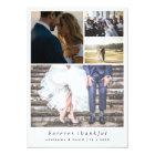 Minimalist Forever Thankful Couple Photo Wedding Card