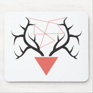 Minimalist Geometric Deer Antlers Mouse Pad