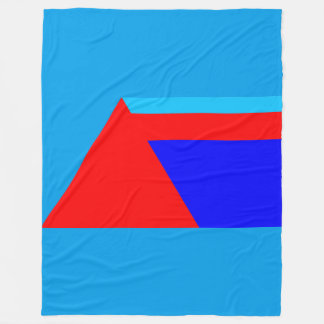 Minimalist Geometric Triangle Shapes Red Blues Fleece Blanket