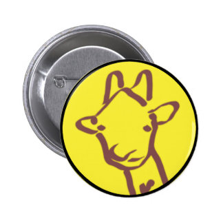 minimalist Giraffe Drawing 6 Cm Round Badge