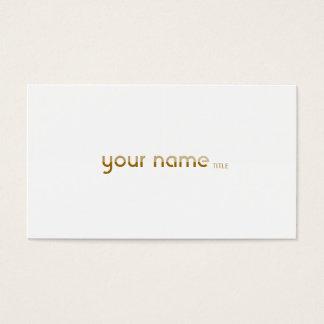 Minimalist Golden 2 Business Card