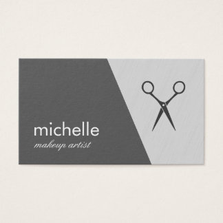 Minimalist Gray White Geometric Shears Business Card