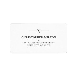 Barber shipping address return address labels zazzle for Address beauty salon
