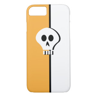 Minimalist Halloween Skull Design for iphone 7 iPhone 8/7 Case