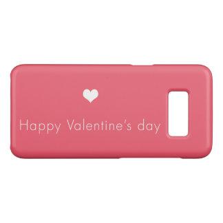 minimalist Happy Valentine's Day Case-Mate Samsung Galaxy S8 Case