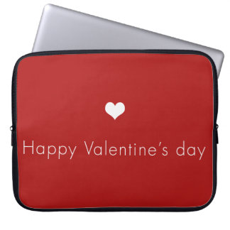 minimalist Happy Valentine's Day Laptop Sleeve
