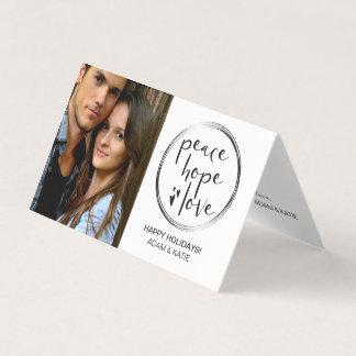 MINIMALIST   HOLIDAY   PEACE HOPE LOVE   PHOTO CARD