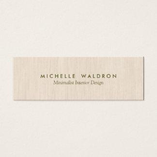 Minimalist Interior Designer Simple Wood LooK Mini Business Card