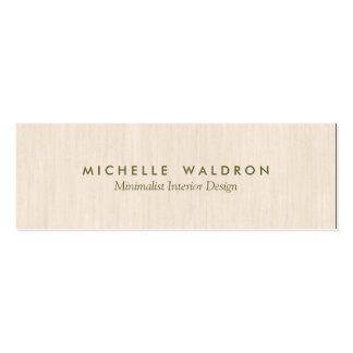 Minimalist Interior Designer Simple Wood LooK Pack Of Skinny Business Cards