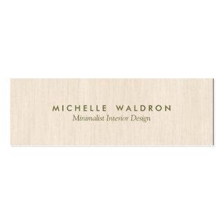 Minimalist Interior Designer Simple Wood LooK Pack Of Skinny Business Cards