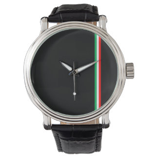 Minimalist Italian Flag Design Watch