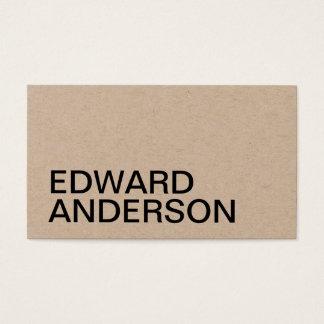 Minimalist kraft professional business card
