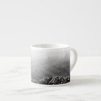 Minimalist landscape espresso mug