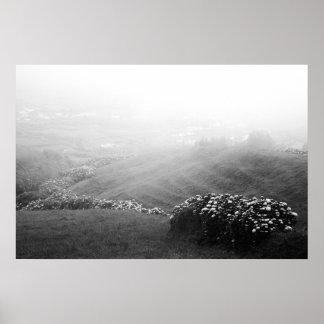 Minimalist landscape poster