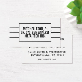 Minimalist Marquee White Business Card
