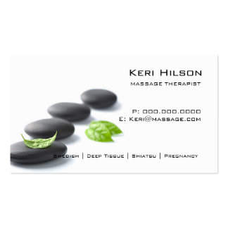 Minimalist Massage Therapist Business Card