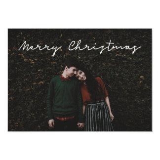 Minimalist 'Merry Christmas' photo card - flat