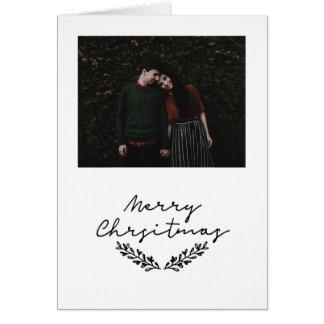 Minimalist 'Merry Christmas' photo card #holidayz