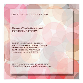 Minimalist Modern 40TH Birthday Party Invitation