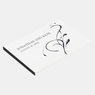 Minimalist & Modern, Black & White Swirl Wedding Guest Book