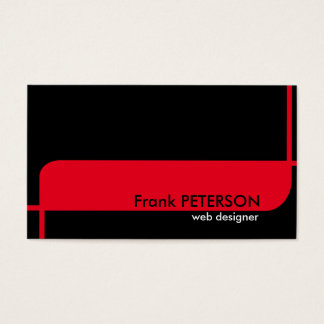 Minimalist modern business card. Black and Red. Business Card