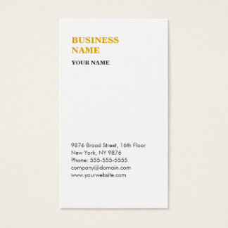 Minimalist modern business card white and gold