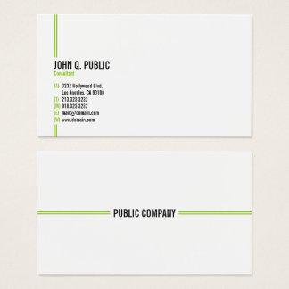Minimalist Modern Elegant Professional Business Card