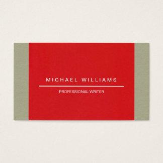 MINIMALIST MODERN ELEGANT WRITER PROFESSIONAL BUSINESS CARD