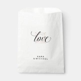 Minimalist Modern Geometric Diamond Wedding Favour Bag