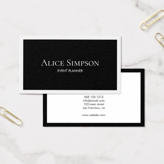 Minimalist Modern Luxury Business Card