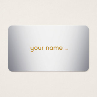Minimalist Modern Metal Business Card