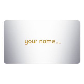 Minimalist Modern Metal Pack Of Standard Business Cards