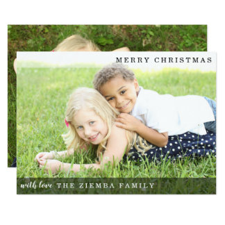 Minimalist Modern Photo Christmas Holiday Card