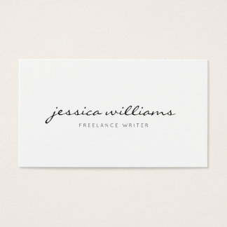 Minimalist Modern Professional Business Card