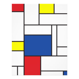 Minimalist Mondrian De Stijl Modern Art Custom 21.5 Cm X 28 Cm Flyer