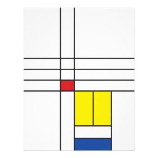 Minimalist Mondrian Modern Art De Stijl Flyer